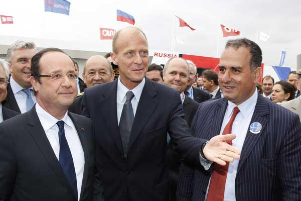 French President visits EADS Pavilion