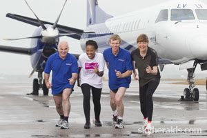 EASTERN AIRWAYS RUNWAY RUN TAKING OFF FOR CHARITY