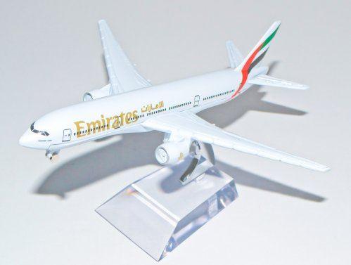 Boeing 777 Emirates Metal Plane Model